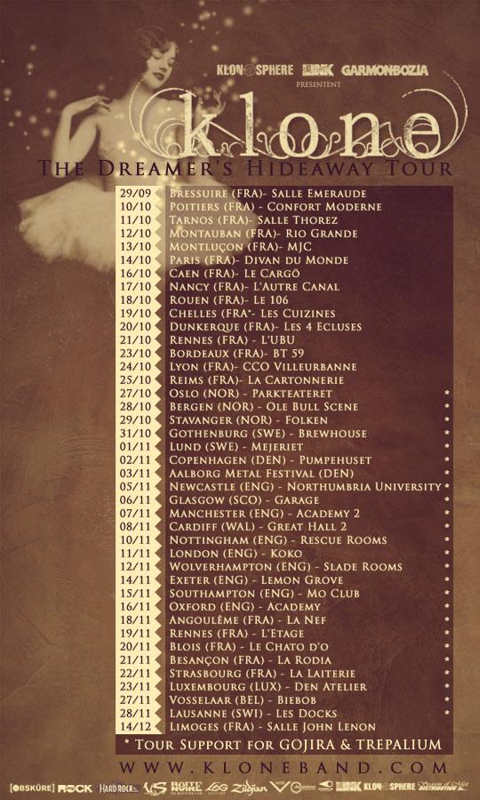 tournée Klone 2012
